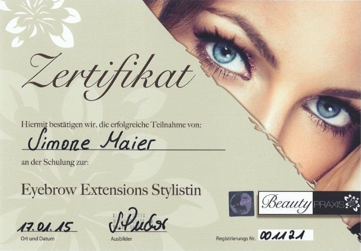 Eyebrow Extensions Stylistin - Beauty Praxis